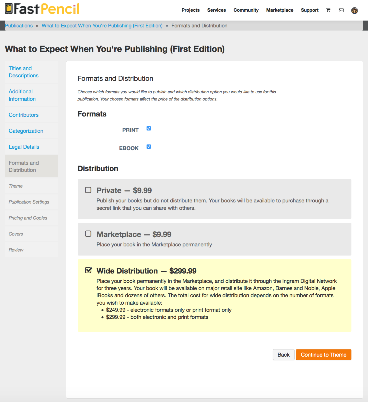 Publishing Wizard Guides Authors Through The Metadata Collection Process  Prior To Publishing Thisrmation Is Paired With Isbn, Covers And Book  Files
